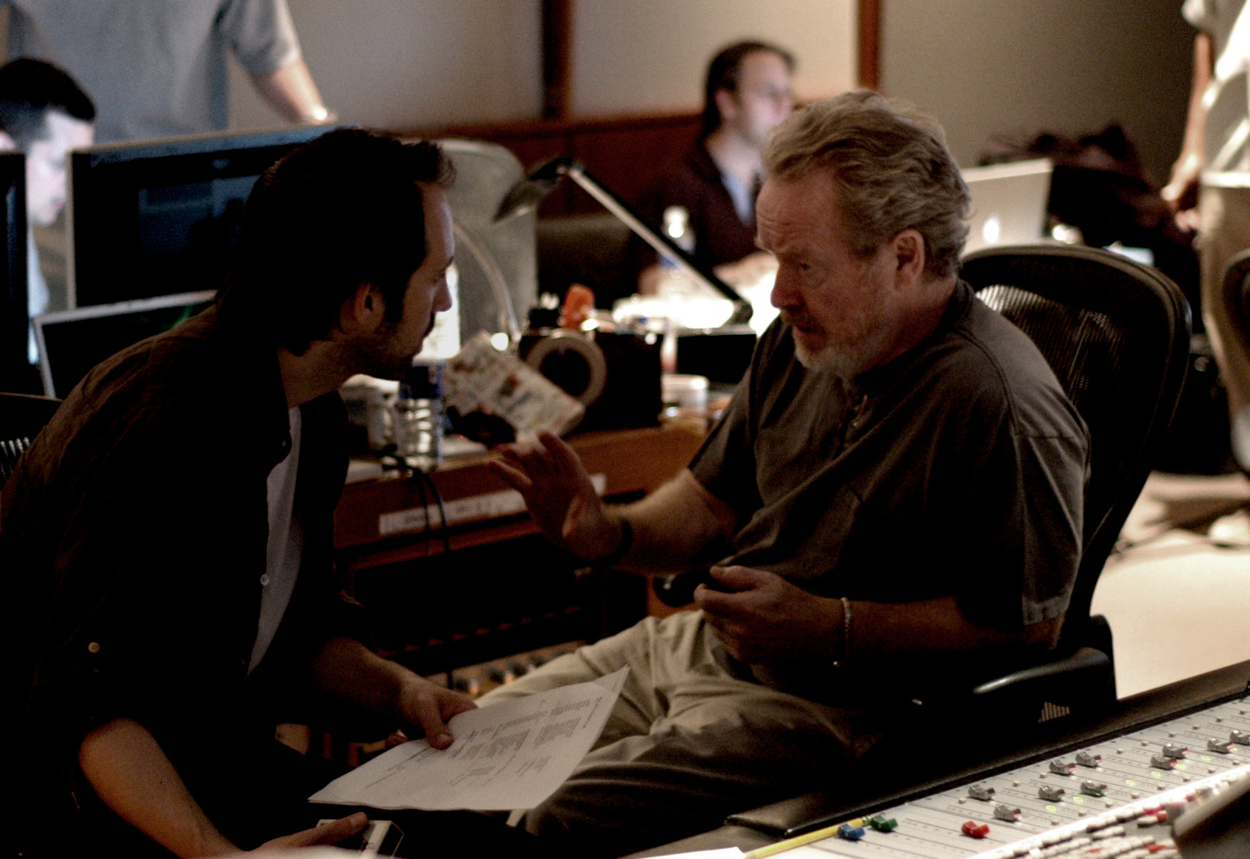 Marc Streitenfeld in Studio with Hans Zimmer